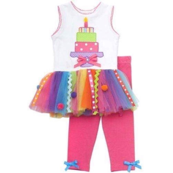 Leggings Set Rare Editions Girls Pink Birthday Present Party Tutu Dress